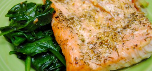 "Salmon and Spinach ""Sandwich"""