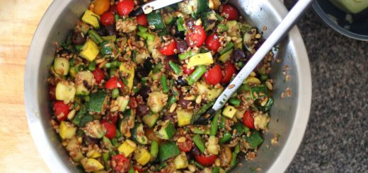 Wheatberry Salad with Grilled Vegetables