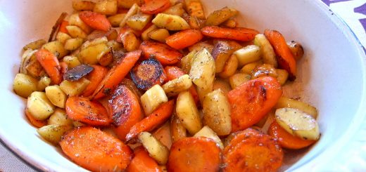 Skillet Roasted Parsnips and Carrots