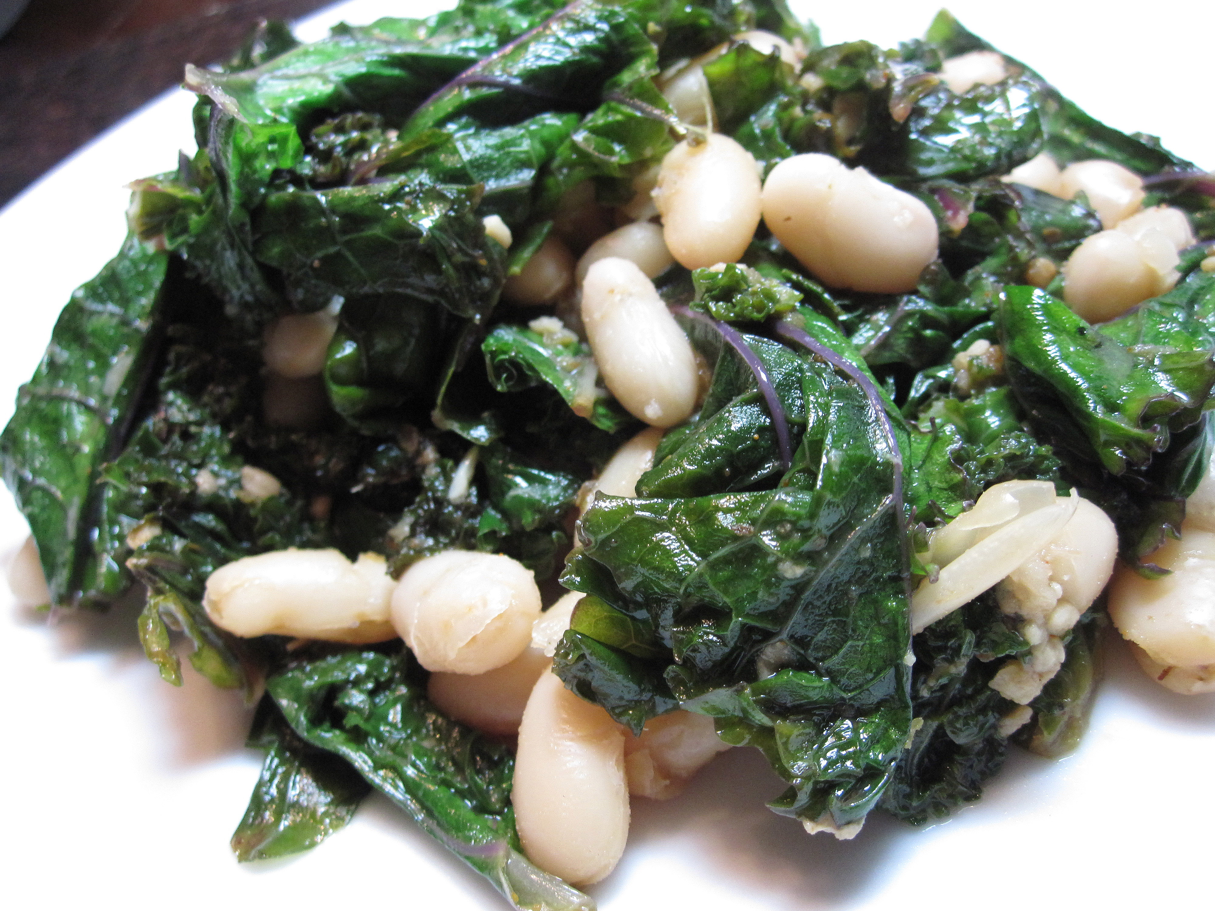 Sautéed Greens with White Beans and Garlic