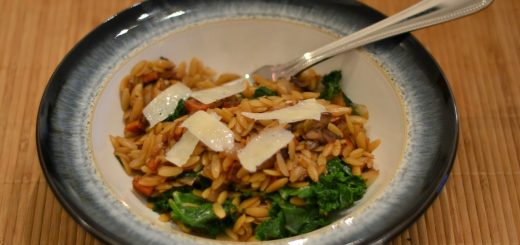 Orzo with Caramelized Fall Vegetables and Ginger