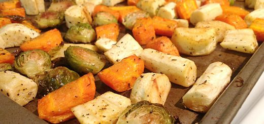 Roasted Potatoes, Carrots, Parsnips, and Brussels Sprouts