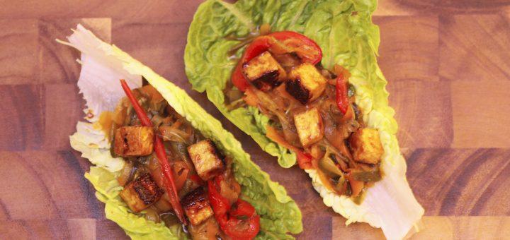 Lettuce Wraps with Hoisin-Mustard Tofu
