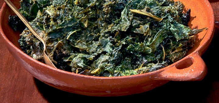 Grilled Coconut Kale