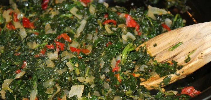 Spinach with Sun Dried Tomatoes