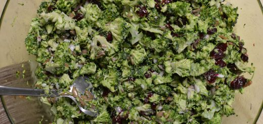 Broccoli Salad, with Cashews and Raisins