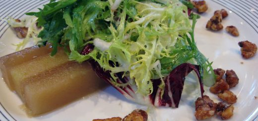 Frisée with Spicy Maple Pecans