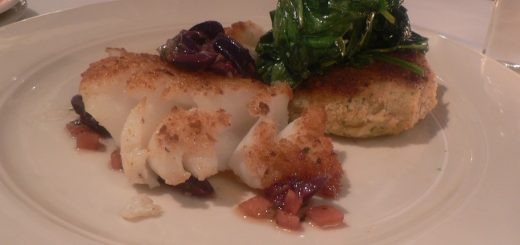 Crusted Cod with Garlicky Tatsoi