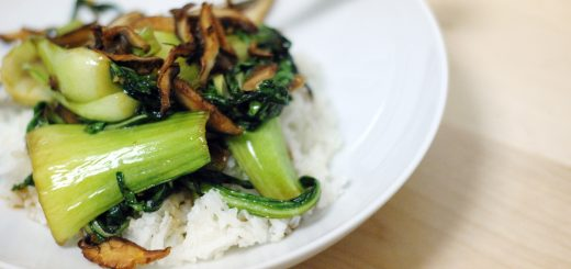 Bok Choy with Shiitakes and Oyster Sauce