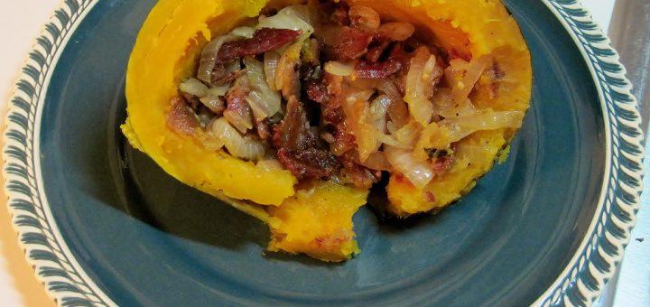 Morel-Stuffed Pattypan Squash