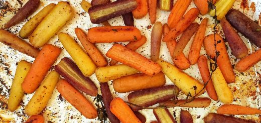 Honey Roasted Rainbow Carrots