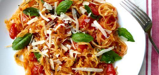 Spaghetti Squash with Tomatoes and Basil