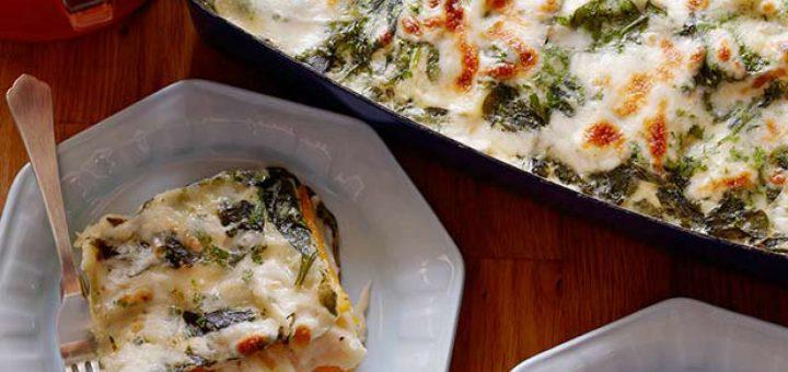 Spinach, Carrot, and Mushroom Lasagna