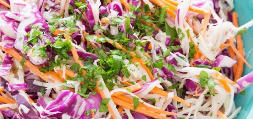 Kohlrabi and Carrot Slaw