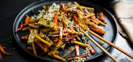 Rainbow Carrot Stir Fry