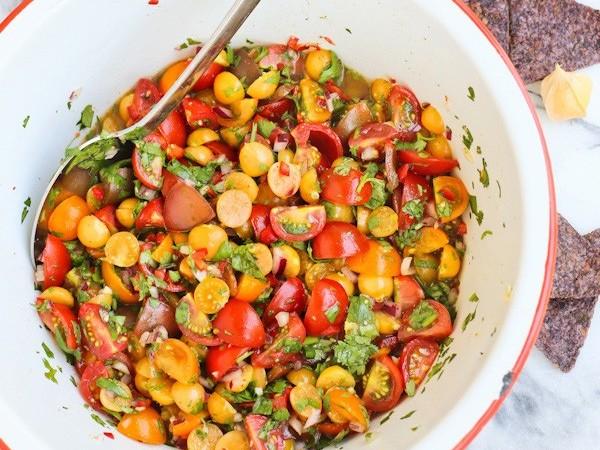 Cherry Tomato and Ground Cherry Salsa